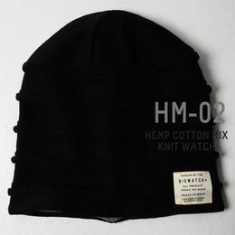 HM-02 ヘンプMIXリバーシブルBIGWATCH ブラック/グレージュ