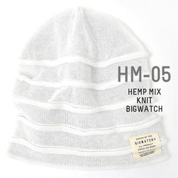 HM-05 ヘンプMIXリバーシブルBIGWATCH ホワイト/グレージュ
