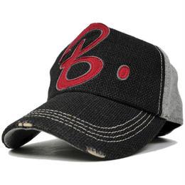 CB-03 ヘンプコットンワッペンCAP BIGWATCH ブラック/グレー