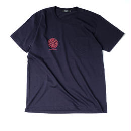 Diaspora skateboards / Heavyweight Small Magic Circle Pocket Tee (Navy)