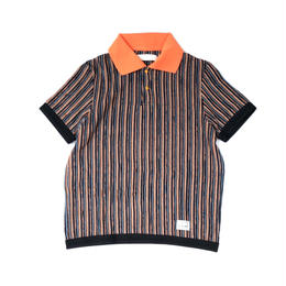 R.M GANG / RIPPLE STRIPE POLO (orange)