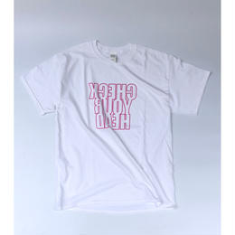 "tr.4 suspension / ""CHECK YOUR HEAD"" S/S Tee (white)"
