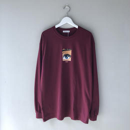 "F-LAGSTUF-F / ""Dream and reality L/S tee2""  (MAROON)"
