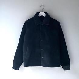 THREE FACE  / Leather Saddleman Jacket  (black × black boa)