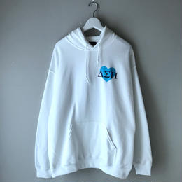 Diapora skateboards / Heart Magic Circle Hooded Sweat (white)