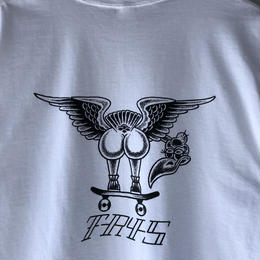 "tr.4 suspension / ""VULTURE back print  S/S tee(white)"
