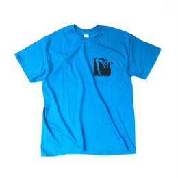 "tr.4 suspension / ""IF"" S/S Tee (blue)"