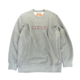 tr.4 suspension / WITTICISM crew neck sweat (gray)