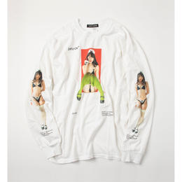 ZATUON x 川崎あや / sit down made L/S tee (white)