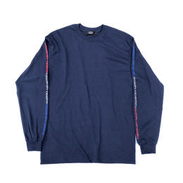 Diaspora skateboards / Tri Long Letter L/S Tee (navy)