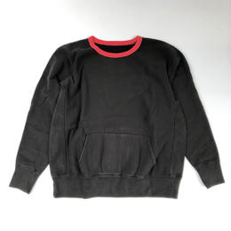 THREE FACE / Sweat Shirt 1 (black x red)