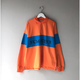 F-LAGSTUF-F / L/S Polo Shirts (orange x blue)