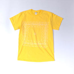 "tr.4 suspension / ""BANDANA"" Discharge Print S/S Tee (yellow)"