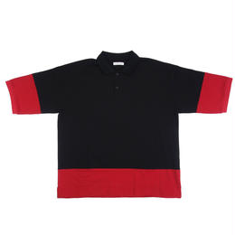 F-LAGSTUF-F / S/S POLO SHIRT (black x red)