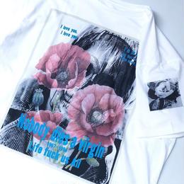 THREE FACE / SS crew neck T-shirts -TEE12-  (white)