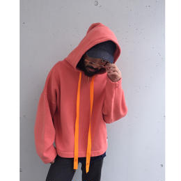 R.M GANG / Shrink & let out hoodie (salmon pink)