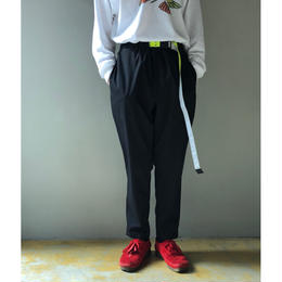 THREE FACE/Easy Pnts With Belt (BLACK)