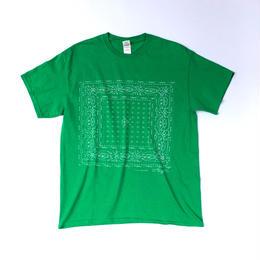"tr.4 suspension / ""BANDANA"" Discharge Print S/S Tee (green)"