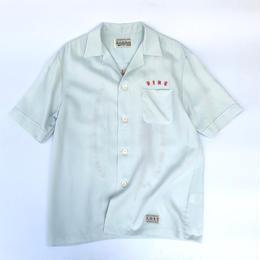 WACKO MARIA  /  Mafia Shirt (type-2)(L-blue)