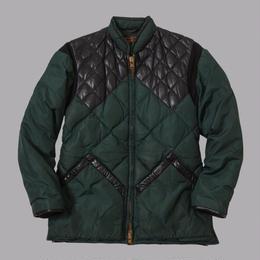 """vintage """" eddie bouer"""" leather×Down jacket (USED)"""