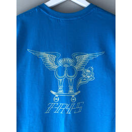 "tr.4 suspension / ""VULTURE back print  S/S tee(blue)"