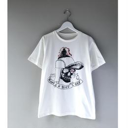 THREE FACE / SS crew neck T-shirts -TEE3-  (white)