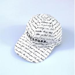 "F-LAGSTUF-F / ""Heart Sutra"" Cap (white)"
