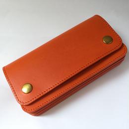 "MADE IN GM JAPAN   "" long wallet "" orange"