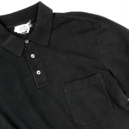 HERMES /  Pocket  S/S Polo Shirt  (black) (spice)