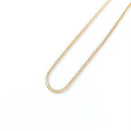 14K GOLD  necklace (キューバンリンク:1mm)