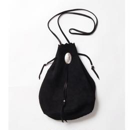 WACKO MARIA / SUEDE SHOULDER BAG (type-2.black)