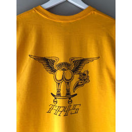 "tr.4 suspension / ""VULTURE back print  S/S tee(yellow)"