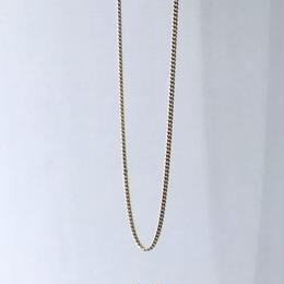 "14K GOLD   ""キューバンリンク"" neckless(幅 約1.5mm)"