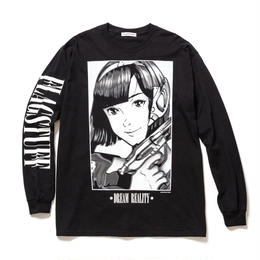"""F-LAGSTUF-F / """"Dream and reality"""" L/S Tee 2 (Black)"""