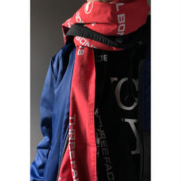 THREE FACE / BANDANA STALL -BAIL BONDS- (black x red)