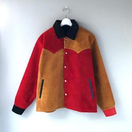 THREE FACE  / Leather Saddleman Jacket  (crazy : L)