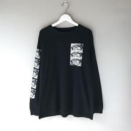 THREE FACE / LS CREW NECK T-SHIRT -TEE2- (black)