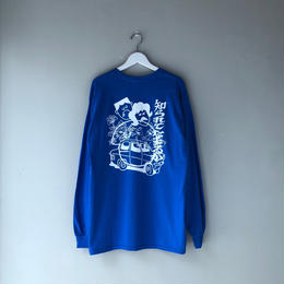 Dunno / A.m.n LS tee (blue)