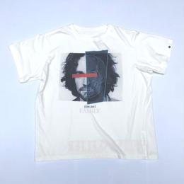 THREE FACE / CREW NECK T-SHIRT -TEE8- (white)