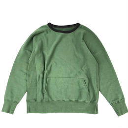 THREE FACE / Sweat Shirt 1 (green x black)