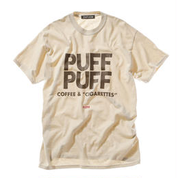 "offshore × DRAGON BALL × ZATUON / ""PUFF PUFF "" Tee (beige)"