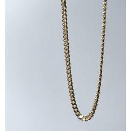 "14K GOLD   ""キューバンリンク"" neckless(幅 約3mm)"