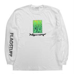 """F-LAGSTUF-F / """"Bottled city"""" L/S Tee 1 (white)"""