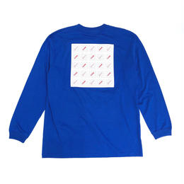 Dunno / Pattern L/S tee (blue)