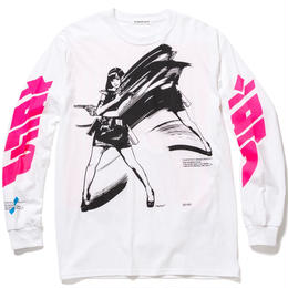 """F-LAGSTUF-F / """"Dream and reality"""" L/S Tee 1 (White)"""