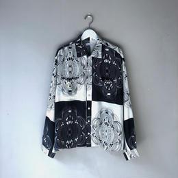 """F-LAGSTUF-F / """"Ten thousand yen"""" L/S Shirts (white x black)"""