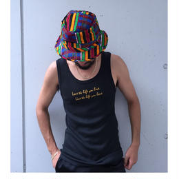 "tr.4 suspension / tank-top  "" Love the life you live. Live the life you love """