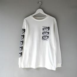 THREE FACE / LS CREW NECK T-SHIRT -TEE2- (white)