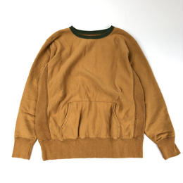 THREE FACE / Sweat Shirt 1 (mustard x green)