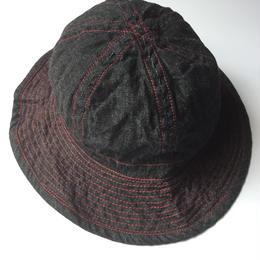 THREE FACE / denim hat (black denim)